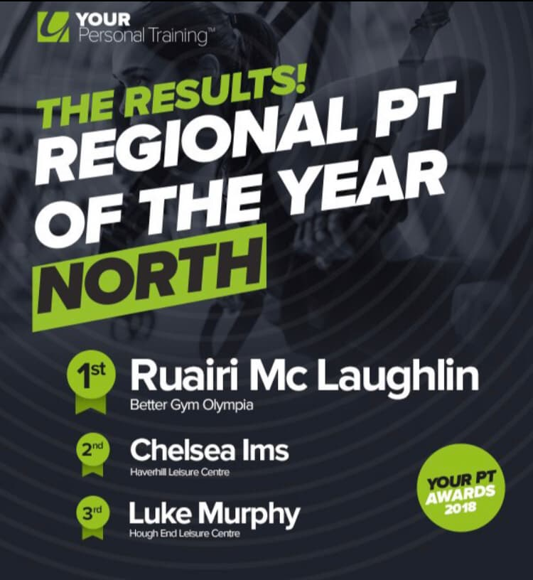 Personal Trainer of the year 2018 award.